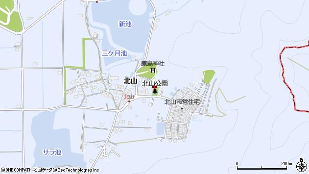 〒676-0826 兵庫県高砂市阿弥陀町北山の地図