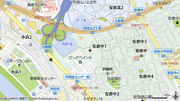 〒665-0822 兵庫県宝塚市安倉中の地図