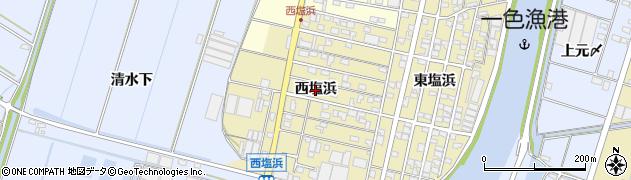 愛知県西尾市一色町一色(西塩浜)周辺の地図