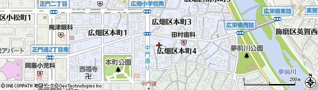 兵庫県姫路市広畑区本町周辺の地図
