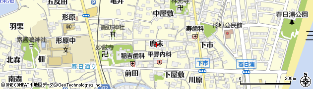 愛知県蒲郡市形原町(鹿末)周辺の地図