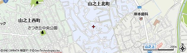 大阪府枚方市山之上北町周辺の地図
