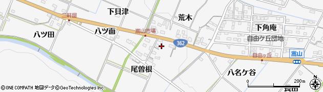 愛知県豊橋市嵩山町(尾曽根)周辺の地図