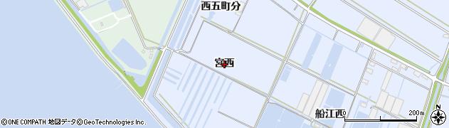 愛知県西尾市一色町小薮(宮西)周辺の地図