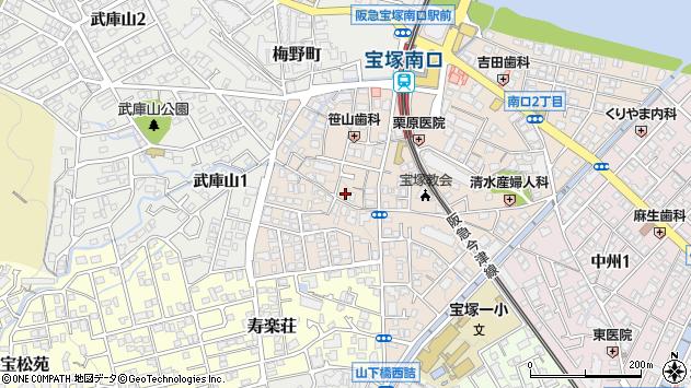 〒665-0011 兵庫県宝塚市南口の地図
