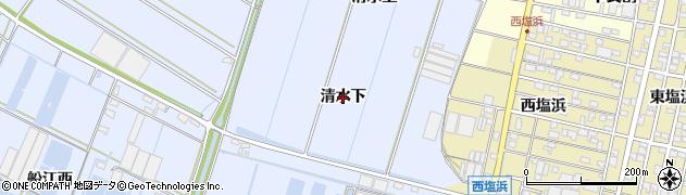 愛知県西尾市一色町小薮(清水下)周辺の地図