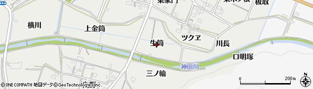 愛知県豊橋市石巻本町(生筒)周辺の地図