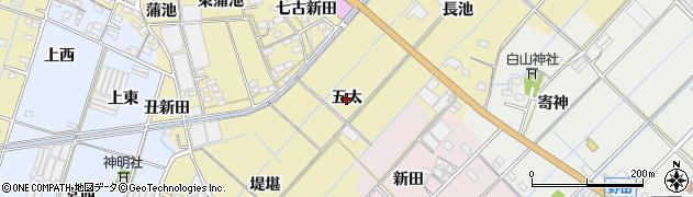 愛知県西尾市一色町対米(五太)周辺の地図