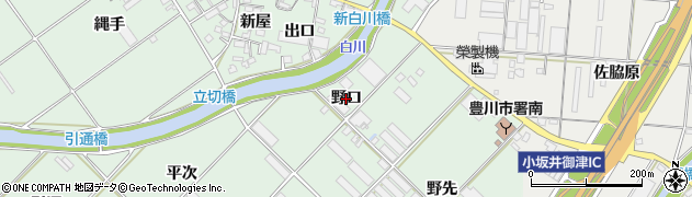 愛知県豊川市御津町下佐脇(野口)周辺の地図