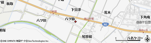 愛知県豊橋市嵩山町(下貝津)周辺の地図