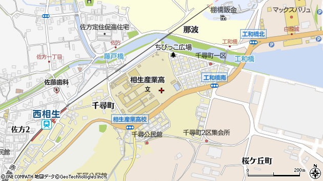 〒678-0062 兵庫県相生市千尋町の地図