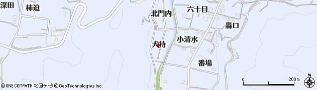 愛知県西尾市西幡豆町(犬持)周辺の地図