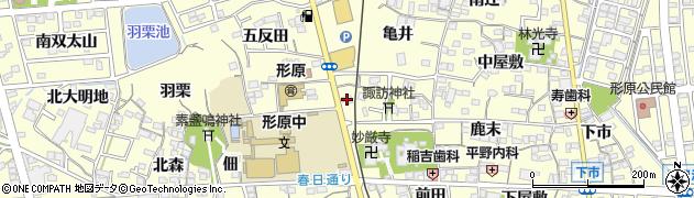 だるま寿し形原店周辺の地図