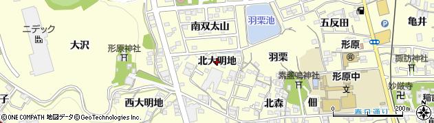 愛知県蒲郡市形原町(北大明地)周辺の地図