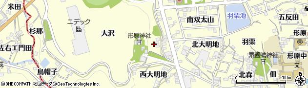 愛知県蒲郡市形原町(八ケ峰)周辺の地図