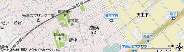愛知県豊川市篠束町(郷中)周辺の地図
