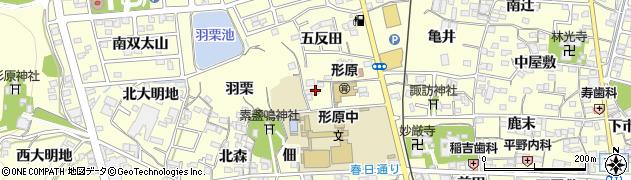 愛知県蒲郡市形原町(中村)周辺の地図