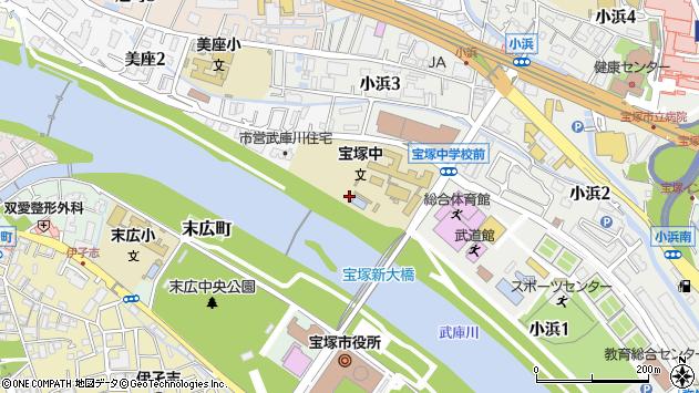 〒665-0834 兵庫県宝塚市美座の地図