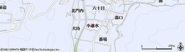 愛知県西尾市西幡豆町(小清水)周辺の地図