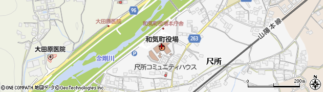 岡山県和気町(和気郡)周辺の地図