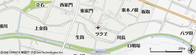 愛知県豊橋市石巻本町(ツクヱ)周辺の地図