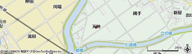 愛知県豊川市御津町下佐脇(天神)周辺の地図