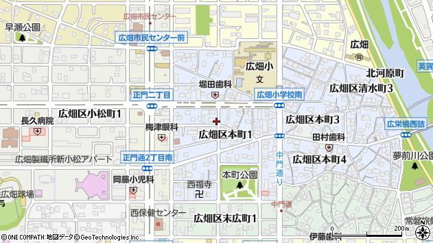 〒671-1114 兵庫県姫路市広畑区本町の地図