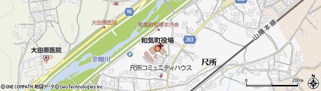 岡山県和気郡和気町周辺の地図