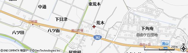 愛知県豊橋市嵩山町(荒木)周辺の地図