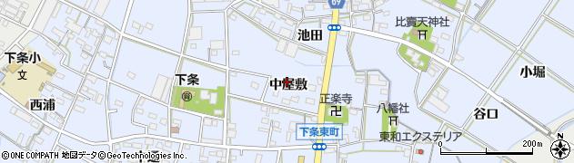 愛知県豊橋市下条東町(中屋敷)周辺の地図