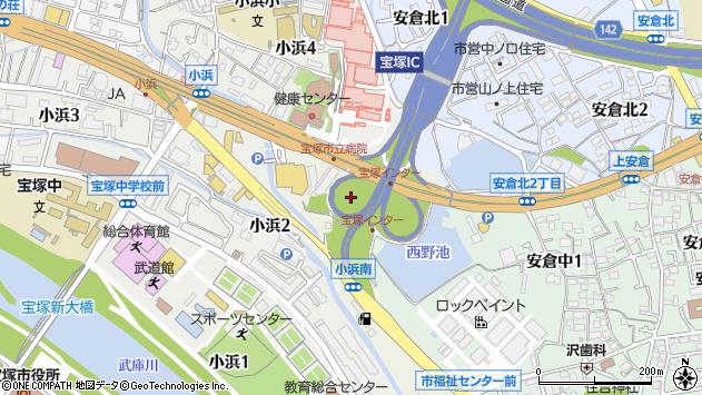 〒665-0825 兵庫県宝塚市安倉西の地図