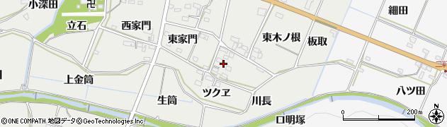 愛知県豊橋市石巻本町(西木ノ根)周辺の地図