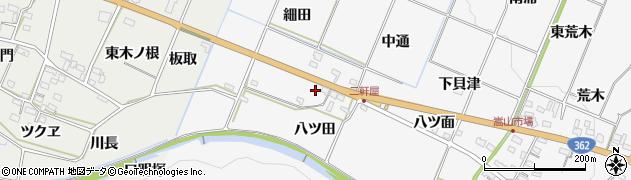 愛知県豊橋市嵩山町(八ツ田)周辺の地図