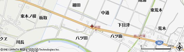 愛知県豊橋市嵩山町(中通)周辺の地図
