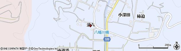 愛知県西尾市西幡豆町(清六)周辺の地図
