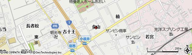 愛知県豊川市宿町(金山)周辺の地図