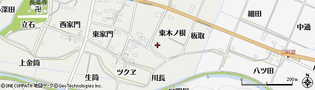 愛知県豊橋市石巻本町(東木ノ根)周辺の地図