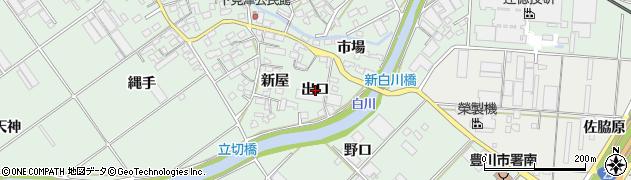 愛知県豊川市御津町下佐脇(出口)周辺の地図