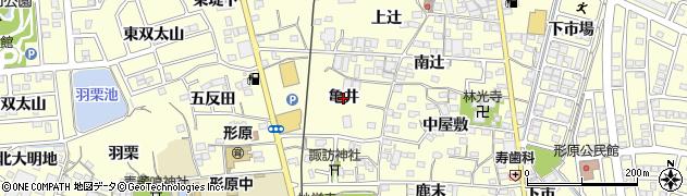 愛知県蒲郡市形原町(亀井)周辺の地図