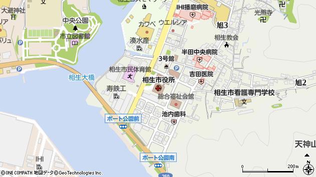 〒678-0000 兵庫県相生市(以下に掲載がない場合)の地図