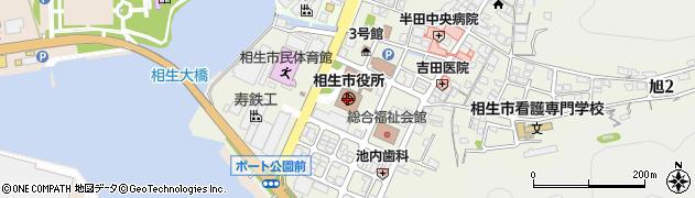 兵庫県相生市周辺の地図