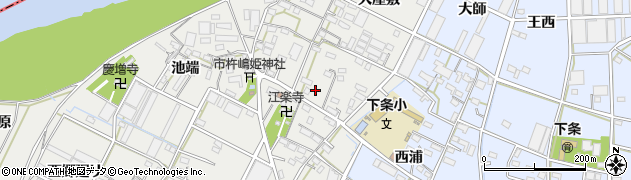 愛知県豊橋市下条西町(南)周辺の地図