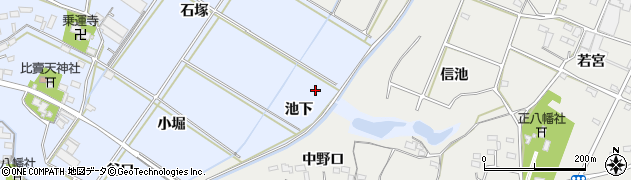 愛知県豊橋市下条東町(池下)周辺の地図