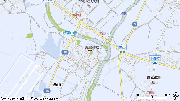 〒675-1234 兵庫県加古川市平荘町西山の地図