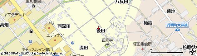 愛知県豊川市正岡町周辺の地図