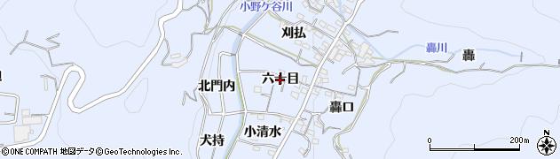 愛知県西尾市西幡豆町(六十目)周辺の地図