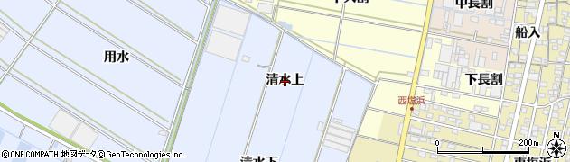 愛知県西尾市一色町小薮(清水上)周辺の地図