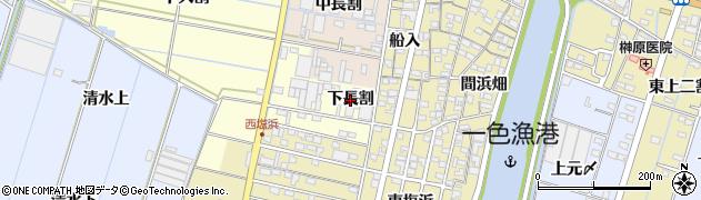 愛知県西尾市一色町中外沢(下長割)周辺の地図