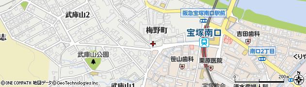 宝塚エジュケーションクラブ周辺の地図