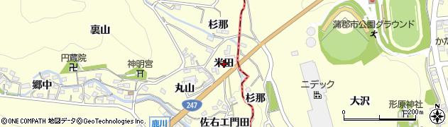 愛知県西尾市東幡豆町(米田)周辺の地図